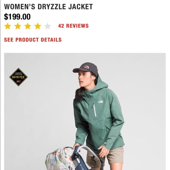 35e674f27 NorthFace M green Women's Dryzzle goretex raincoat